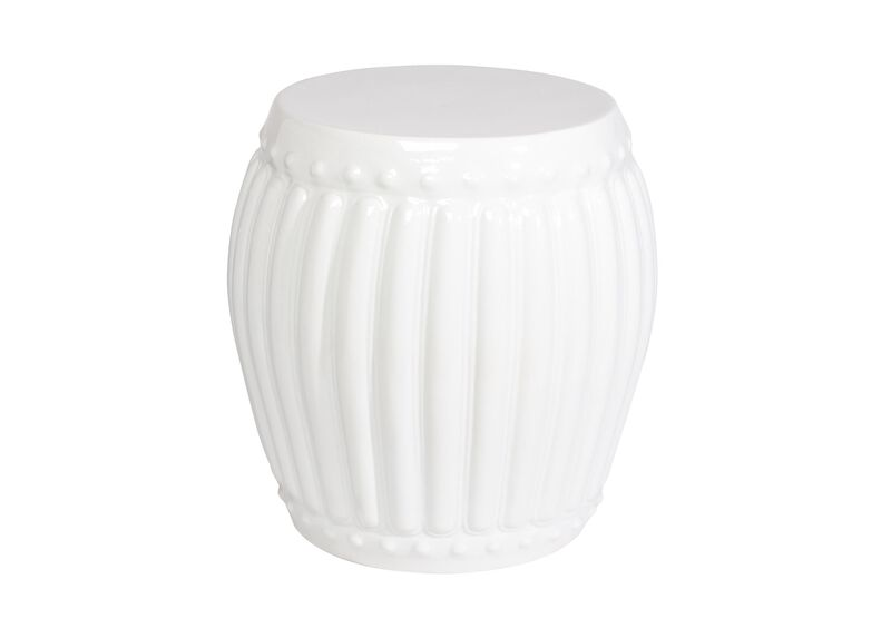 White Drum Table ,  , large_gray