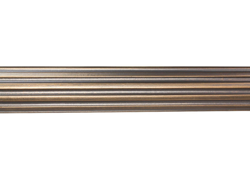 "2 1/4"" Fluted Wood Pole, Rose Gold ,  , large_gray"