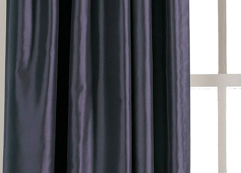 Navy Satin Dupioni Fabric ,  , large_gray
