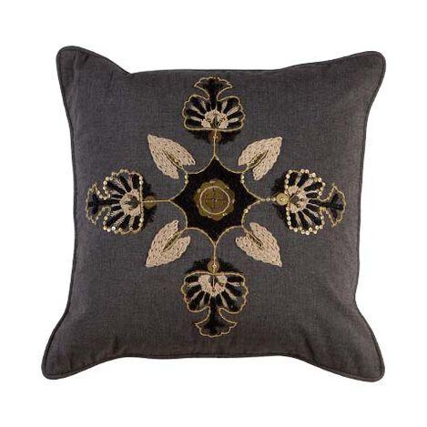 Modern Gray Medallion Pillow ,  , large