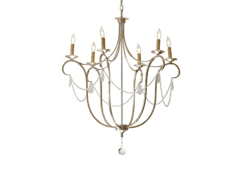 Cali Aged Silver Chandelier ,  , large_gray