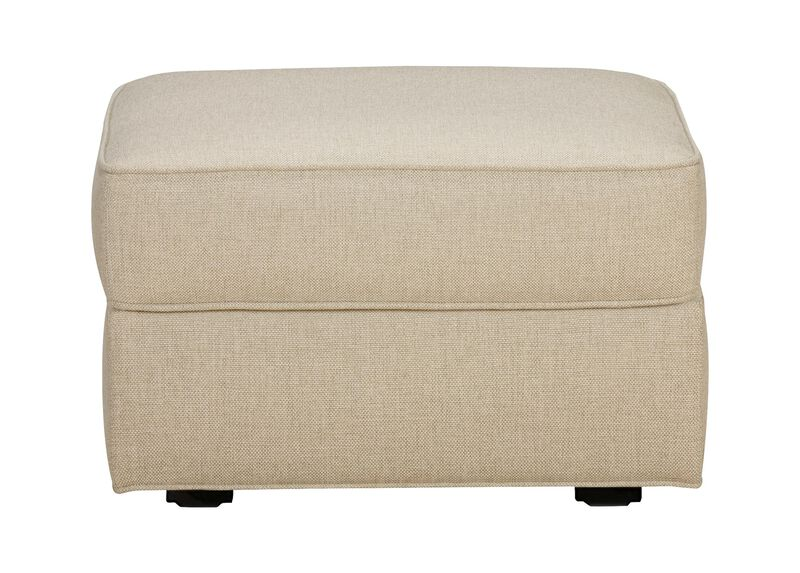 Retreat Ottoman, Quick Ship , Hailey Oatmeal (Q1033), solid texture , large_gray