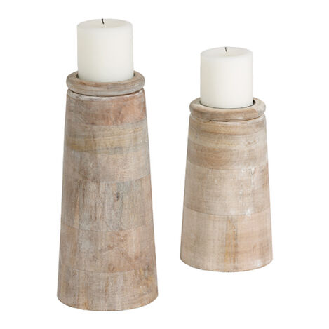 Dillon White Candleholders ,  , large