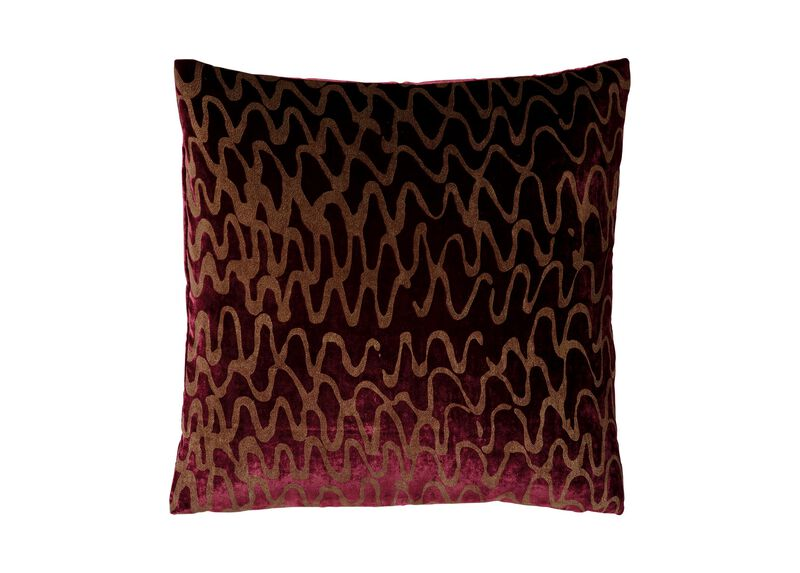 Ripple Pillow, Port/Gold ,  , large_gray