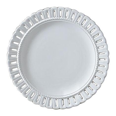 White Pierced Edge Wall Plate ,  , large