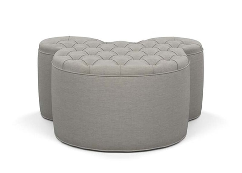 Mickey Mouse Ottoman , Zest Steel (D1053), strie texture , large_gray