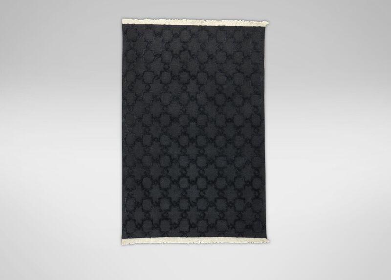 Lattice Soumak Rug, Black ,  , large_gray