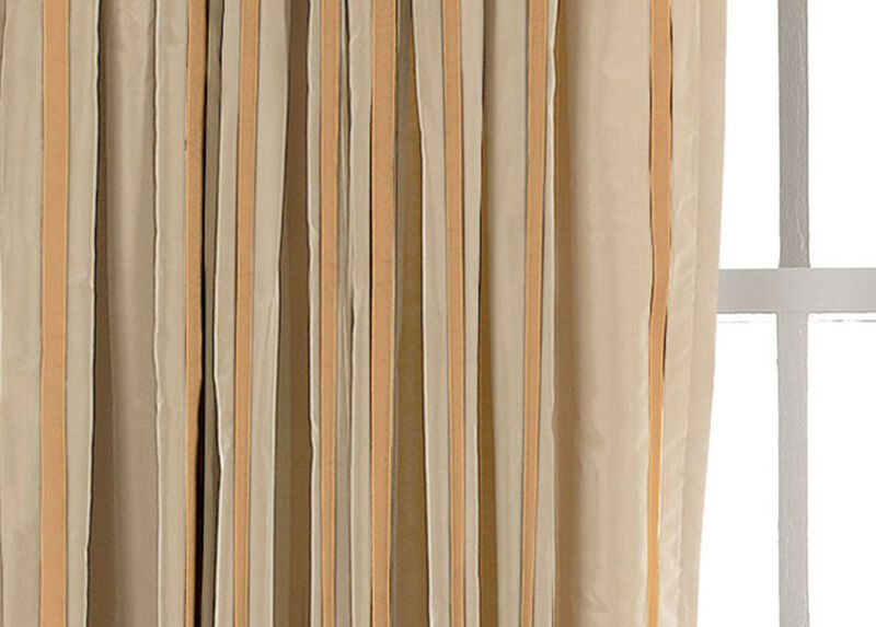 Ivory/Gold Taffeta Stripe Fabric by the Yard ,  , large_gray