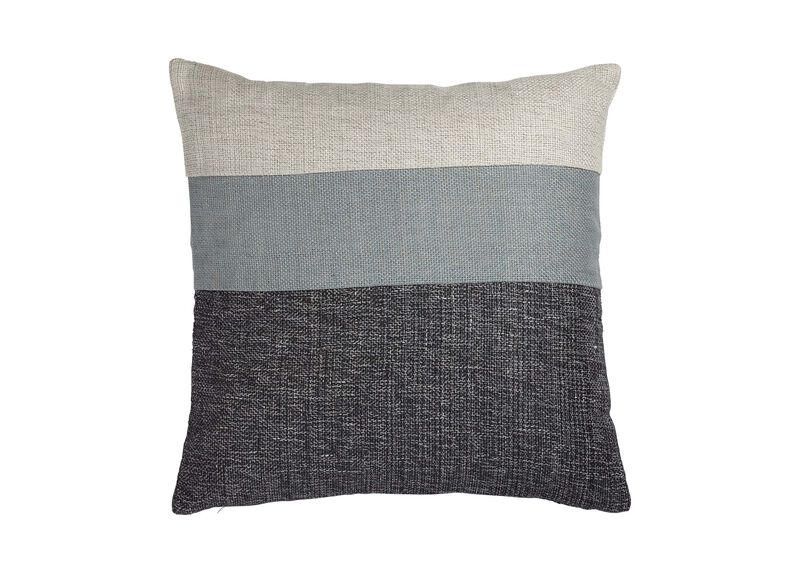 Slate/Multi Color Block Pillow ,  , large_gray
