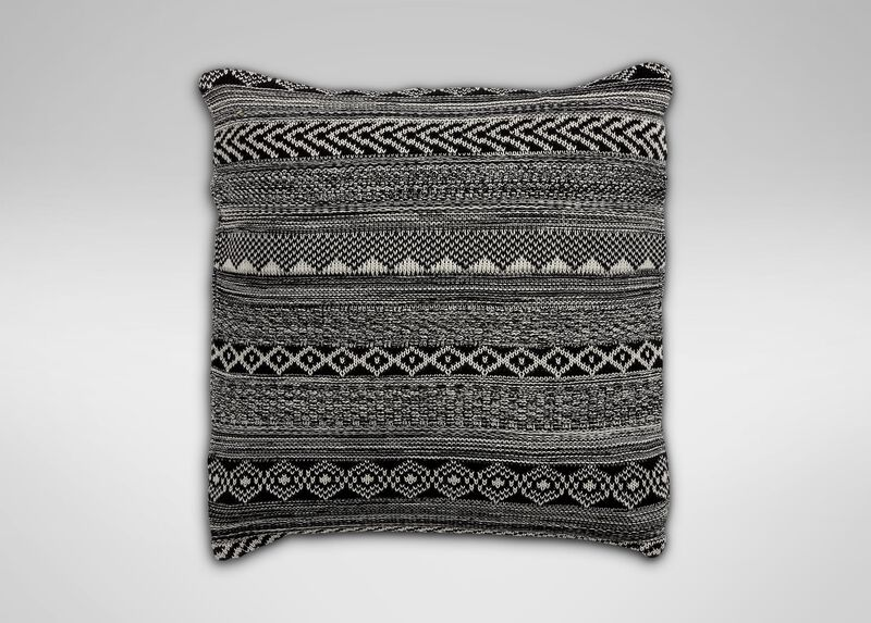 Black and White Graphic Knit Pillow at Ethan Allen in Ormond Beach, FL | Tuggl