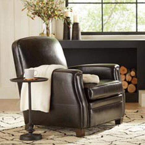 Large Dean Leather Chair Anson Black Hover Image