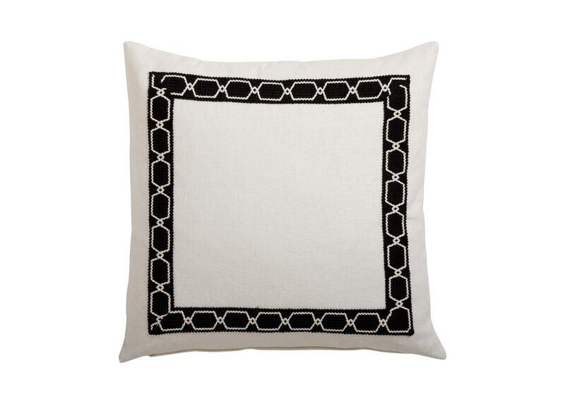 Framed Ivory Pillow, Black/Ivory ,  , large_gray