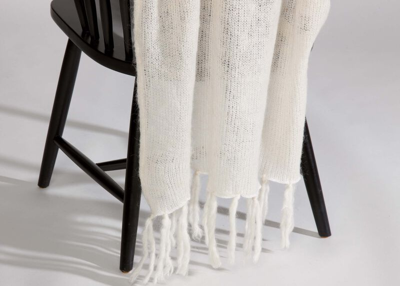 Ivory Mohair Throw at Ethan Allen in Ormond Beach, FL | Tuggl