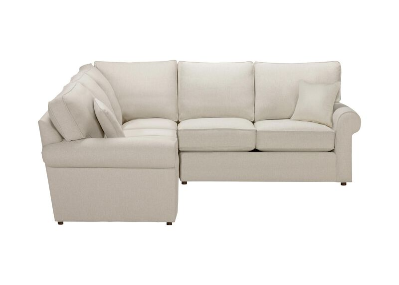 Retreat Roll-Arm Three Piece Sectional, Quick Ship , Hailey Ivory (Q1032), solid texture , large_gray