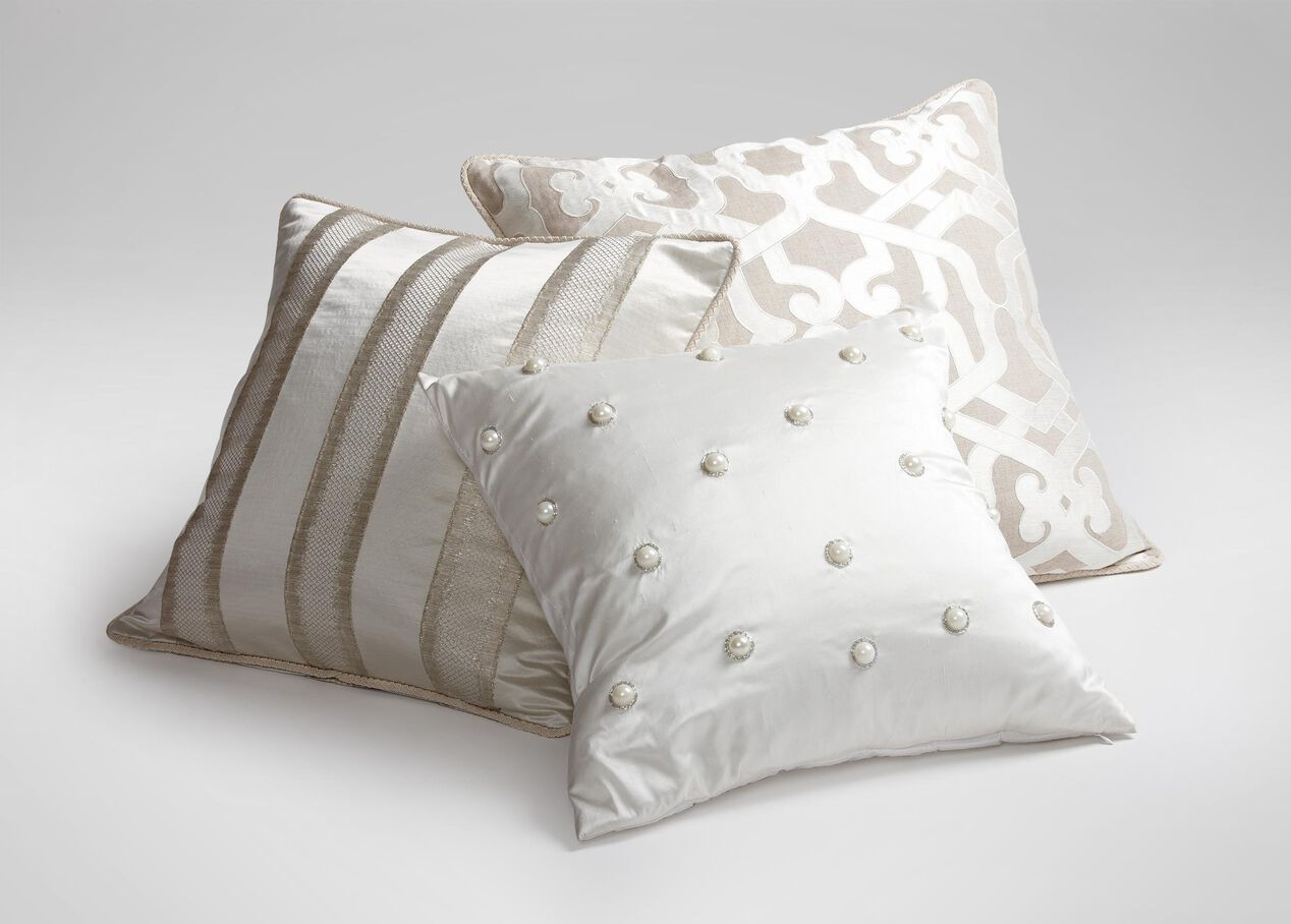 Decorative Pillows With Embellishments : Pearl Embellished Pillow Pillows