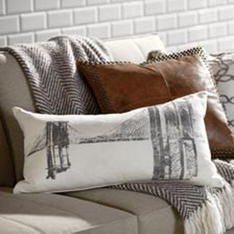 Brooklyn Bridge Block-Printed Pillow ,  , hover_image