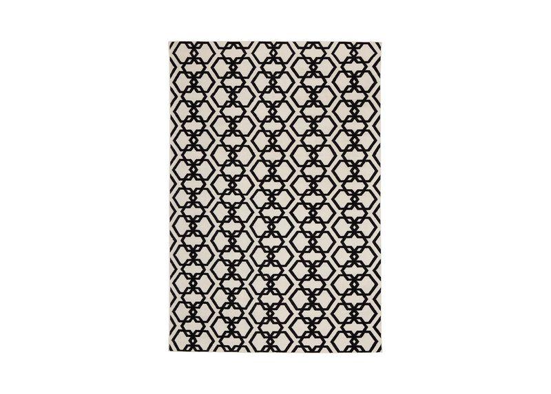 Interlock Rug, Ivory/Black ,  , large_gray