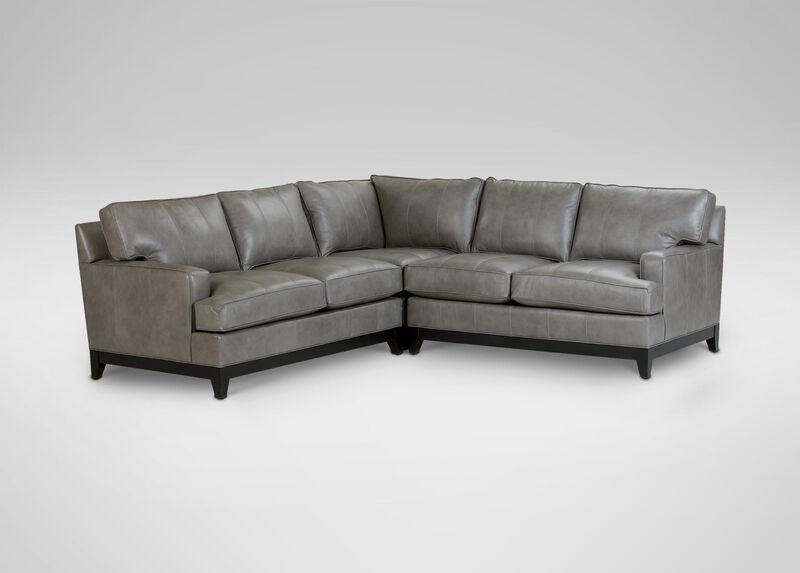 Arcata Leather Sectional ,  , large_gray