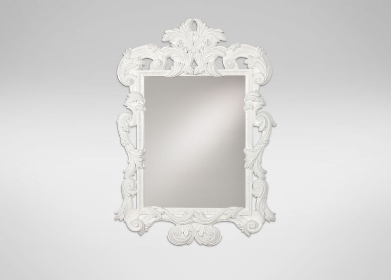 White Ornate Mirror ,  , large_gray