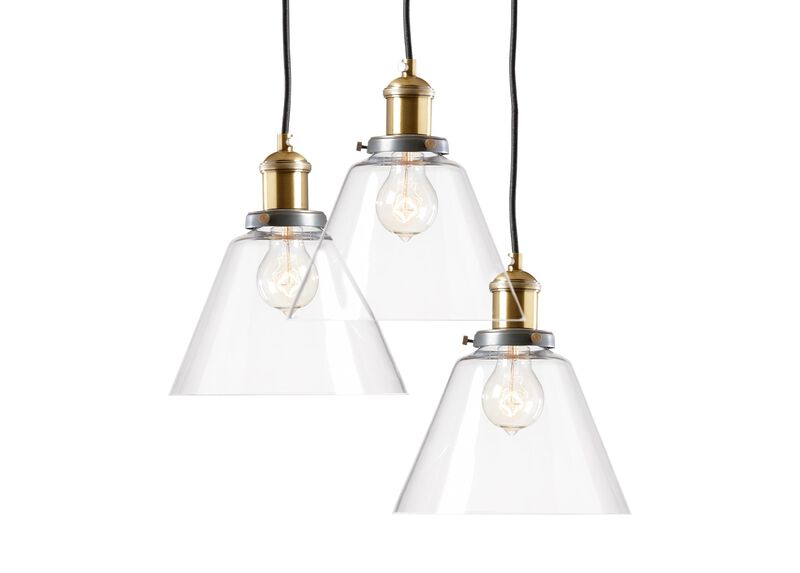 Kinsey Cone Three-Light Pendant ,  , large_gray