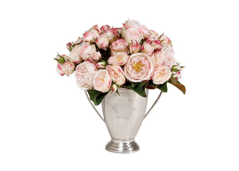 Pink Rose and Magnolia Arrangement ,  , large_gray