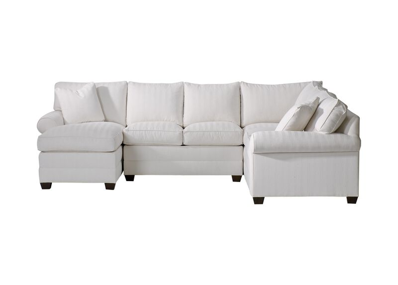 Bennett Roll-Arm Sectional with Chaise ,  , large_gray