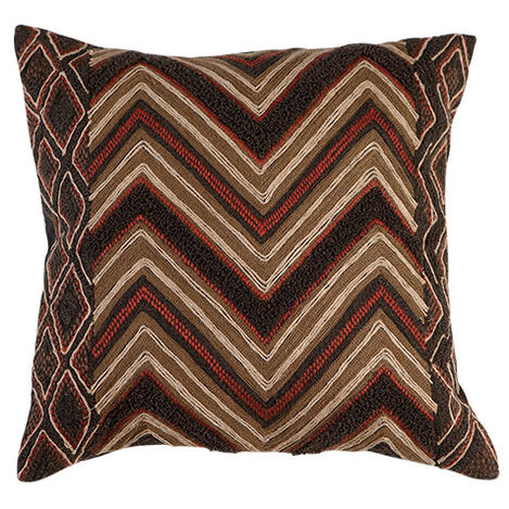 Modern Tribal Chevron Pillow ,  , large