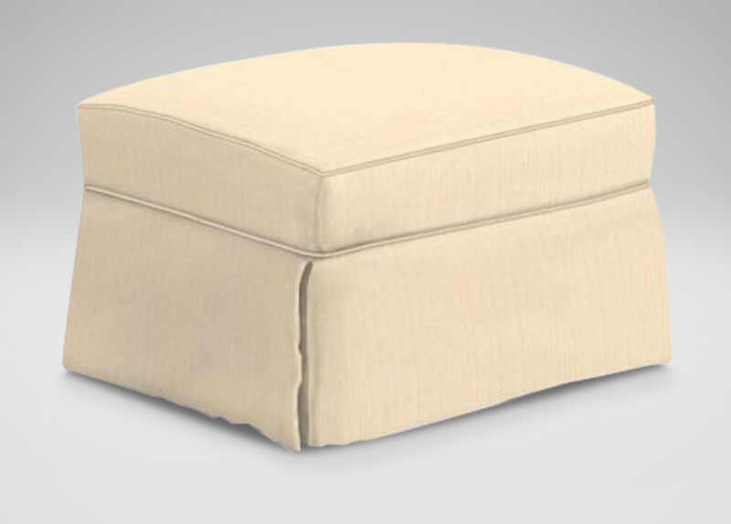Bennett Slipcovered Ottoman ,  , large_gray