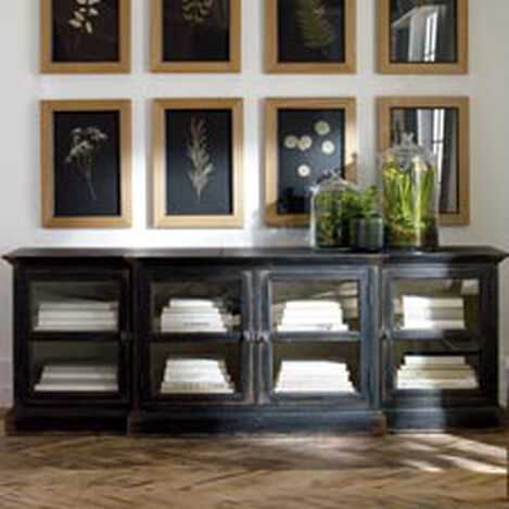 Farragut Media Cabinet, Rustic Black with White Interior ,  , hover_image