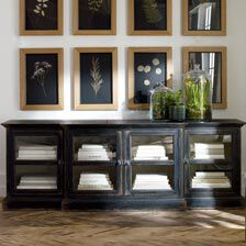 ... Large Farragut Media Cabinet, Rustic Black With White Interior , ,  Hover_image
