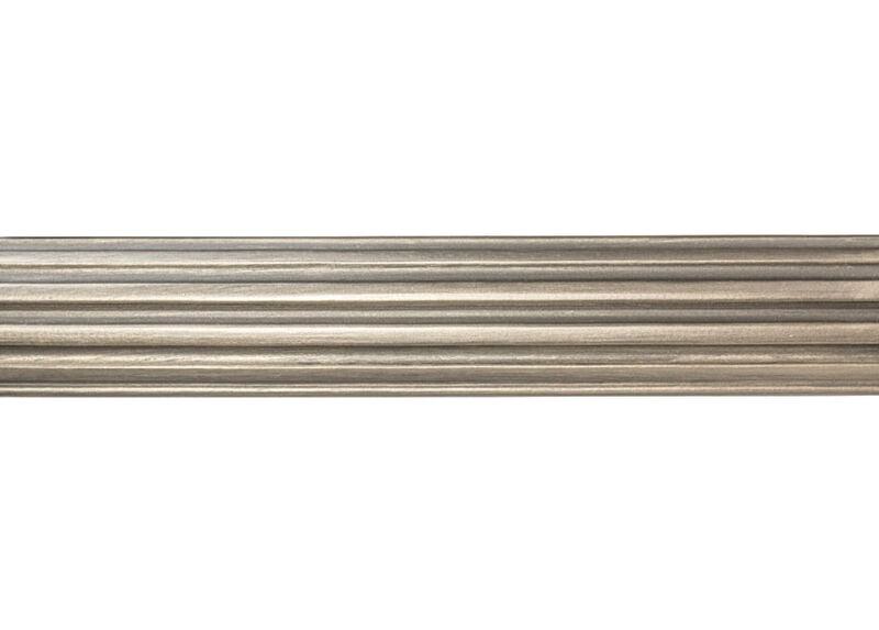 "2 1/4"" Fluted Wood Pole, Platinum ,  , large_gray"