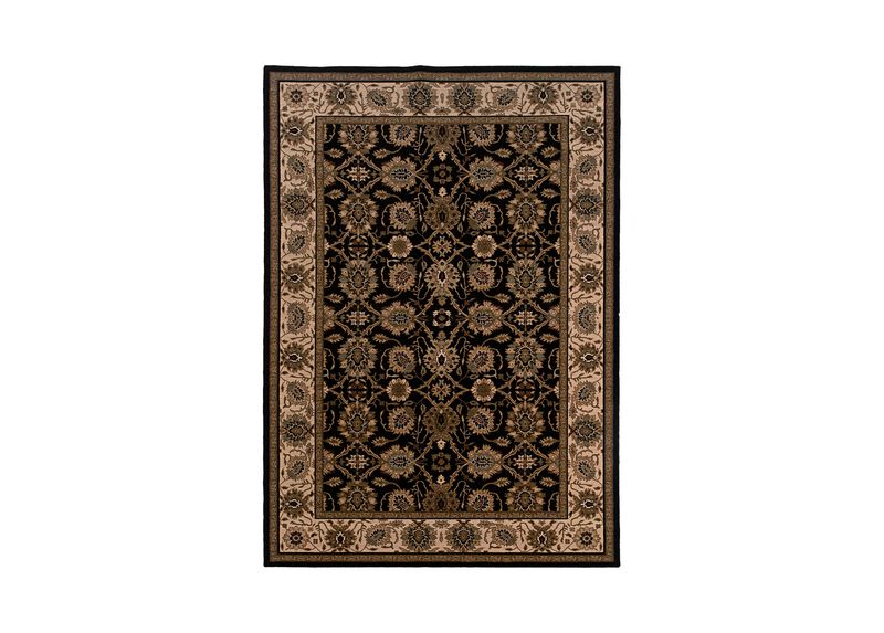 Sultanabad Area Rug, Black/Ivory ,  , large_gray