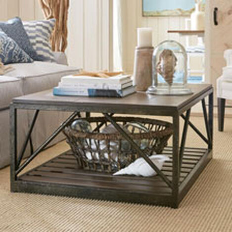 Beam Metal Base Coffee Table ,  , hover_image