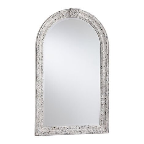 Antique White Arched Mirror ,  , large