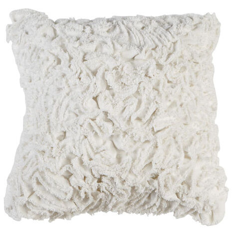 Ruffled Ivory Pillow ,  , large