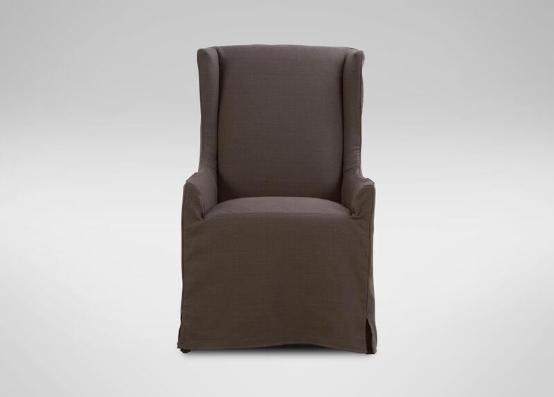 Larkin Slipcovered Host Chair ,  , large_gray