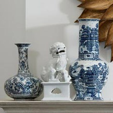 Blue and White Porcelain Vase ,  , hover_image