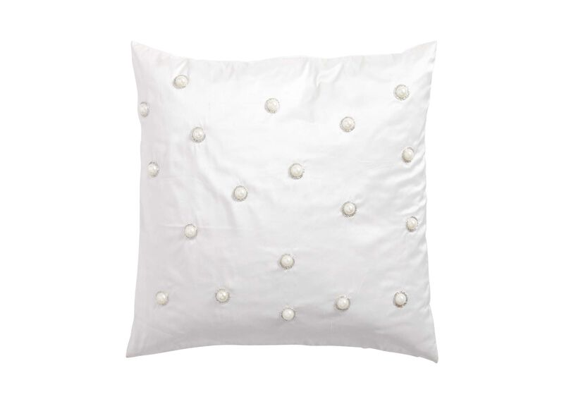 Pearl Embellished Pillow ,  , large_gray
