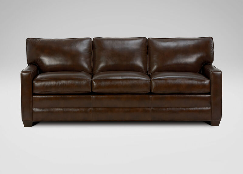 Bennett Track-Arm Leather Sofa ,  , large_gray