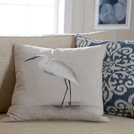 Hand-Painted Bird on Sand Pillow ,  , hover_image