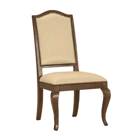 Hayden Cabriole-Leg Leather Side Chair ,  , large