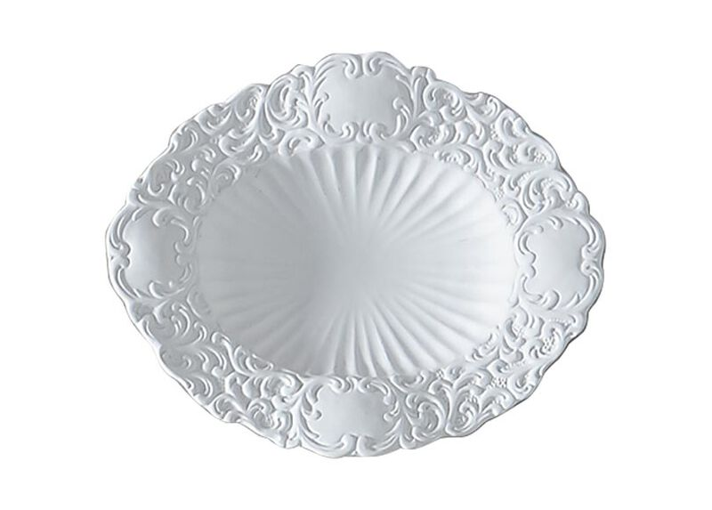 Small White Baroque Wall Plate ,  , large_gray