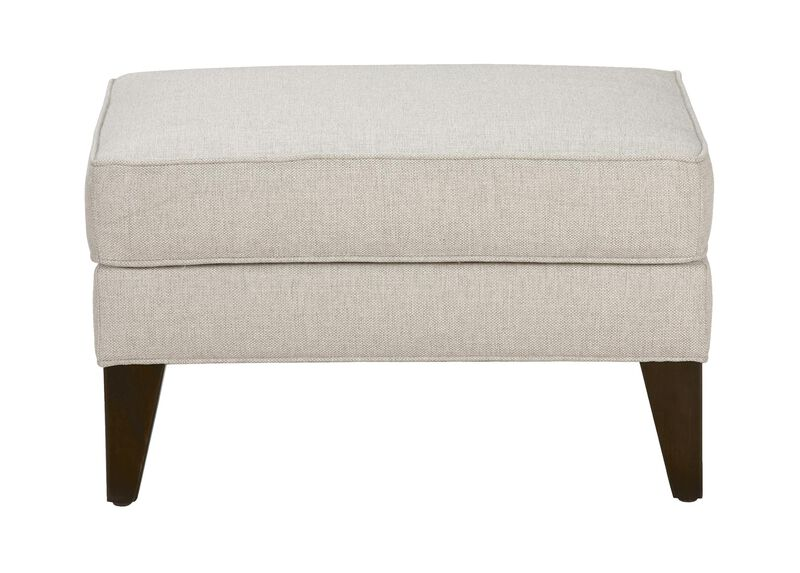 Emerson Ottoman, Quick Ship , Hailey Ivory (Q1032), solid texture , large_gray