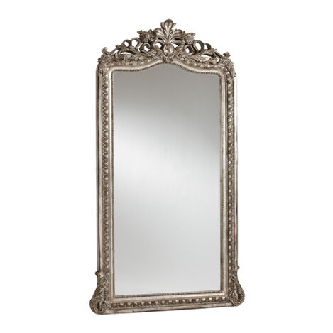 Aged Silver Luxe Floor Mirror ,  , large