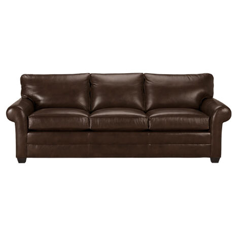 Bennett Roll-Arm Leather Sofa, Quick Ship ,  , large