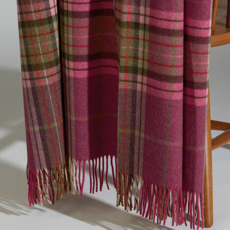 Clonlara Magenta Plaid Throw ,  , large