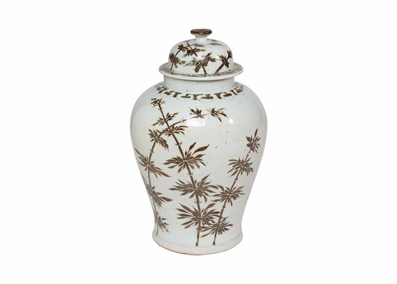 Brown Bamboo Temple Jar ,  , large_gray