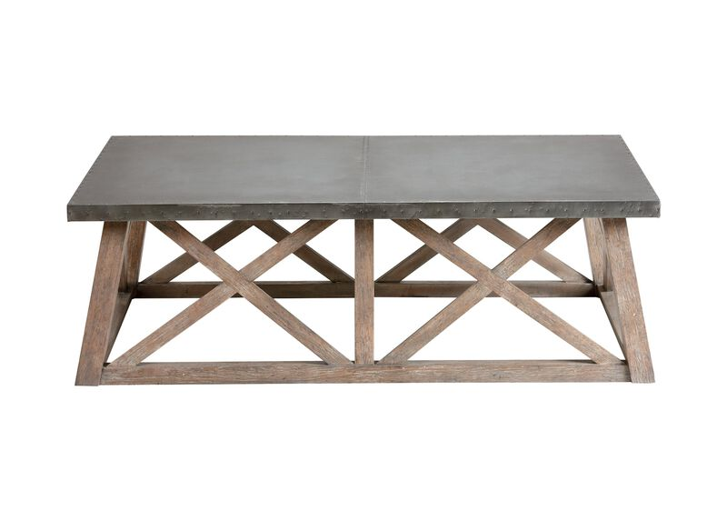 Bruckner Metal-Top  Coffee Table ,  , large_gray