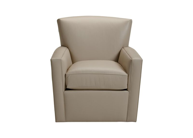 Turner Leather Swivel Chair ,  , large_gray