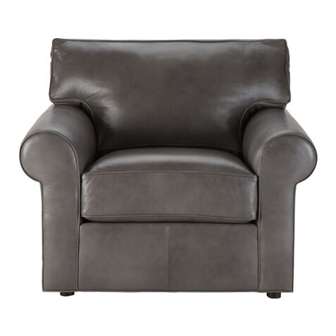 retreat rollarm leather chair quick ship large